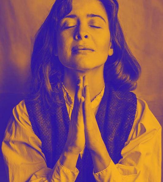 Jerusalem. Kvinna som ber.